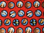 WIZARD of OZ Red Medallions : 100% cotton licensed Fabric : by the 1/2 metre