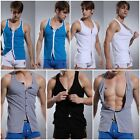 New Stylish Summer Mens Gym Singlet Cotton Stringer Muscle Running T-Shirt Vest