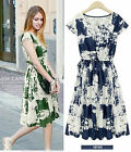 2015 Summer lady cotton oversize print flora tops Party Evening dress plus size