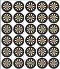Dartboard Edible Cupcake Toppers Decorations Pre Cut Rice Wafer Paper
