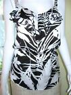 NEW ANN TAYLOR Tropical Print Ruffle Peplum Shell Top NWT $50 Black White