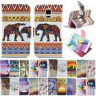 For Various Phone Flip Wallet Case Cover Leather Card Slot Owl Stand Printed