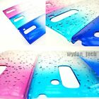 For LG Phones Water Rain Drop Hard Thin Clear Transparent 1-Piece Case Cover