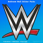 WWE LOGO bedroom wall STICKERS wrestling original old new white black decal pack