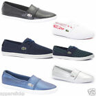 Lacoste Marice MET Lace Women's White Silver Shoes Flat Slip On Loafers Pumps