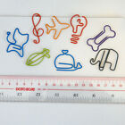 colorful metal animal whale cat bookmark stationery paper clip random colour