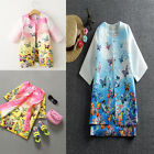 Fashion Girls clothing sets butterfly print sleeveless dress+Coats Kids Clothes