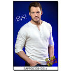 Chris Pratt pp autgoraphed poster photo Jurassic World Guardians of Galaxy actor