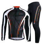 2015 Men Long Sleeve Cycling Polyester +Coolmax Jersey and Pant Wear Size M-XXL