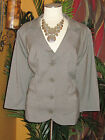 LANE BRYANT NWT $90 26 grey gray 3/4 sleeve women's blazer jacket coat