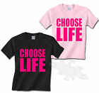 RETRO 80`s CHOOSE LIFE ,T SHIRT KIDS all sizes