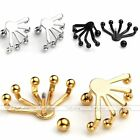 Punk Stainless Steel Womens Mens Ball Eagle Claw Ear Stud Earrings Cool Jewelry
