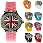 Ladies Women's Diamante Designer Fashion Union Jack Watch Quality Watches Boxed