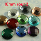 20 crystal 18mm Great AAA flatback faceted glass rhinestones/stones round jewels