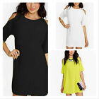 Summer Women Short Sleeve Off Shoulder Chiffon Baggy T-Shirt Tops Beach Dress
