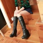 Womens lady over the knee boots fashion Booties  wedge heel platform shoes