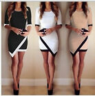 Stylish lady Bandage Bodycon Asymmetric Evening Party Cocktail Mini Dress hot