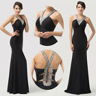 BEADED Wedding Guest Long Maxi Evening Gown Party Formal Prom Bridesmaid Dresses