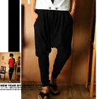 Valuable Popular Korean Mens low-crotch Casual Trousers Pants Harem Pants LACA