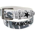 Ramones - News Print Collage Leather Lined Belt + Metal Buckle - New & Official