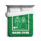 Game Over Funny Marriage Duvet Cover