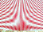 Discount Fabric Top Weight Cotton Shirting Apparel Cherry Red White Stripe 010CT