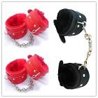 Hot Sexy Slave Hand Ring Handcuff Restraint Chain SM Sex Flirt Toy Tools New LJ