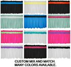 "New 40""- 60"" CUSTOM solid WHITE GREEN BLACK light weight fabric VALANCE"