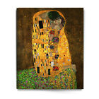 The kiss gustav klimt canvas Giclee Printed Reproduction on Canvas ready to hang