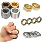 Unisex Women Men Gold Rings Silver Band Fingerstall Alloy Finger Buckles