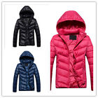 Fashion Ladies Slim Down Coat Women's Casual Sport Hooded  Down Warm Jacket HOT