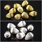 30pcs Teardrop Loose Drop Spacer Beads Silver/Gold Plated 11x15mm Findings