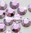 Light Violet ( Any Size ) hot fix Iron On Faceted rhinestuds 6ss 10ss 16ss 20ss