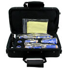 Clarinet Bb Senior 17 Key with Case Care Kit Musical Instruments 2 C olors