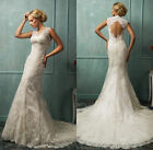 Elegance Gorgeous Lace Bridal Gown Wedding Dress Custom Made All Size Hot Sale