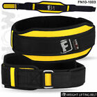 Weight Lifting Belt Fitness Gym Workout Neoprene Double Support Brace Yellow