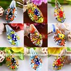 64x22mm Murano Lampwork Glass Bead Frog On Leaf Pendant Charm For Necklace DIY