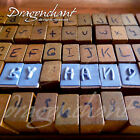 70 Alphabet Rubber Stamp Handwriting Set Wooden Box Wood Letter Number + Ink Pad