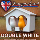 Double Whistle Bird House Keyring Wall Mount Hook Key Hanger Holder Many Colours