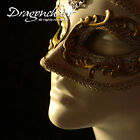 White Stunning Elegant Venetian Mask Carnival Masquerade Ball Fancy Dress Party