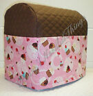 Custom Quilted Pink Cupcake Cover Set for Kitchen Countertop Appliances
