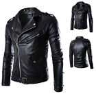 Men's Sexy Slim Fit PU Leather Short Jacket Coat Top Designed Outwear Size L-XXL