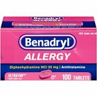 BENADRYL ALLERGY 25 MG ULTRATAB 100 TABLETS