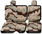 CC  front or rear bench 60/40  w headrest car seat covers choose 0ver 20 colors