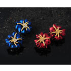 18K Gold Plated Starfish Flower Earrings Stud Crystal Rhinestone Big New Style