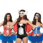 Female Superhero Costumes Adult Sexy Halloween Fancy Dress