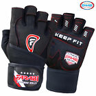 Farabi Weight Lifting Gloves Straps Fitness workout Fitness Gel Black Leather