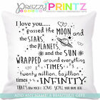 ☆ PERSONALISED LOVE YOU TO THE MOON ☆ FATHERS CUSHION VALENTINES CHRISTMAS GIFT