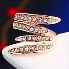 New Women Rose Gold Plated Austrian Crystal Rings Antiallergic 6/7/8/9 Size Hot