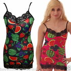 LACE STRAPPY VEST DRESS TOP FRUIT SALAD  ALTERNATIVE INSANITY